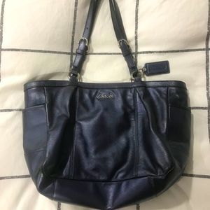 Coach Metallic Blue Bag